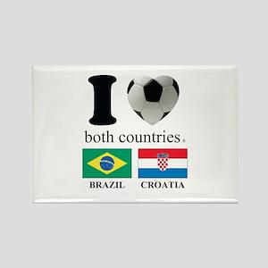 BRAZIL-CROATIA Rectangle Magnet