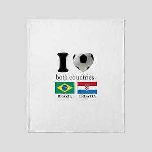 BRAZIL-CROATIA Throw Blanket