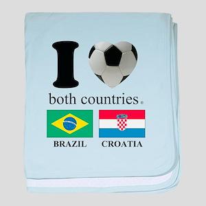 BRAZIL-CROATIA baby blanket