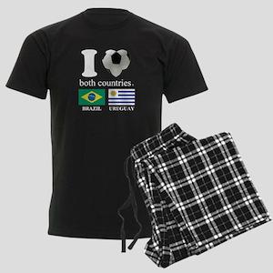 BRAZIL-URUGUAY Men's Dark Pajamas