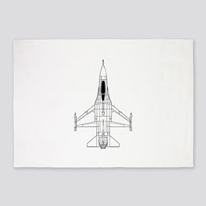 Air Force Jet 5'x7'Area Rug