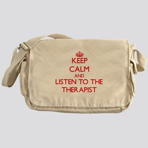 Keep Calm and Listen to the Therapist Messenger Ba