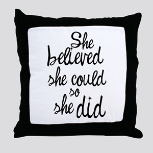 Believed Throw Pillow