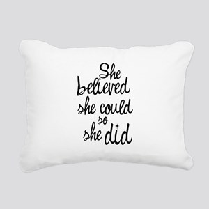 Believed Rectangular Canvas Pillow