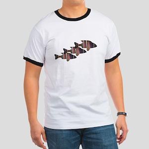 Fuchsia Fish Trio T-Shirt