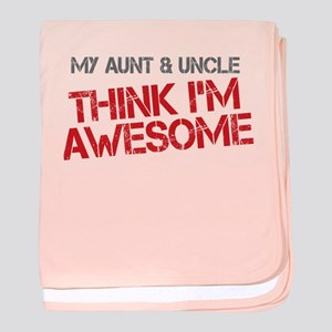 Aunt and Uncle Awesome baby blanket