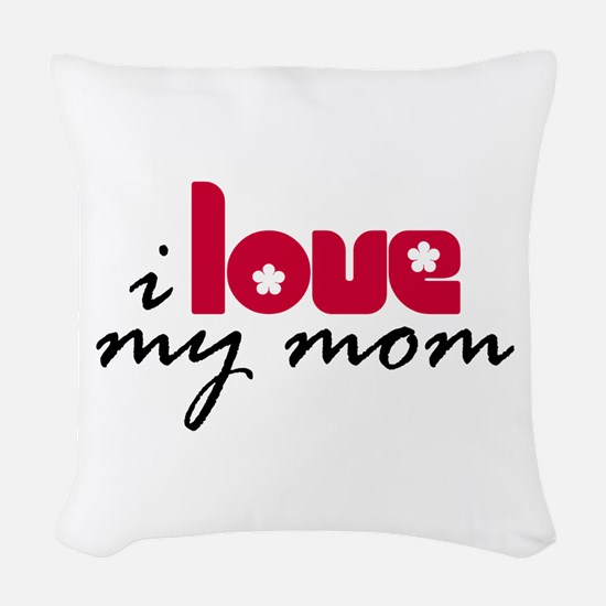 My Mom Woven Throw Pillow