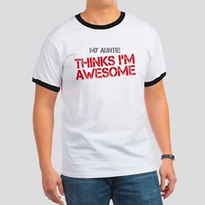Auntie Awesome Ringer T