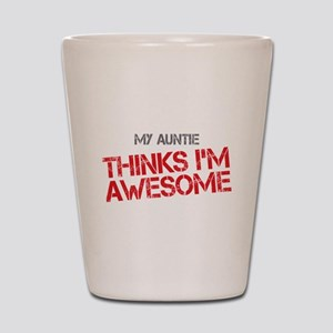 Auntie Awesome Shot Glass