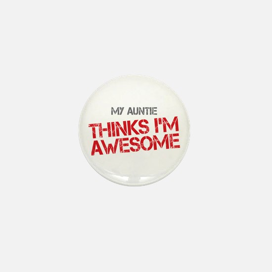 Auntie Awesome Mini Button