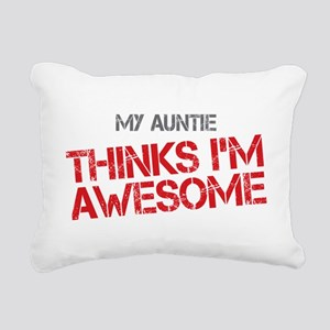 Auntie Awesome Rectangular Canvas Pillow
