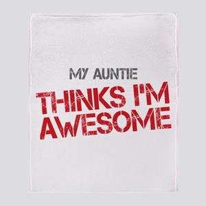 Auntie Awesome Throw Blanket