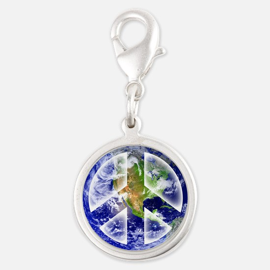 Peace on Earth Silver Round Charm