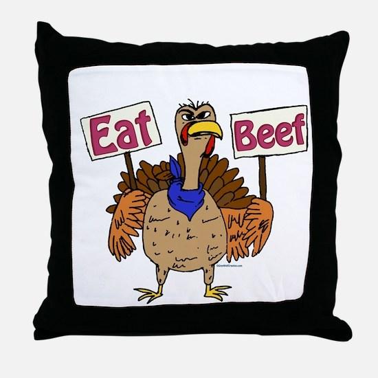 Eat Beef! Throw Pillow