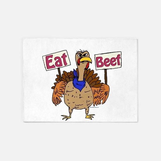 Eat Beef! 5'x7'Area Rug
