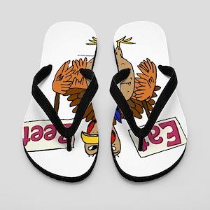 Eat Beef! Flip Flops