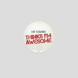 Cousin Awesome Mini Button