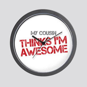 Cousin Awesome Wall Clock