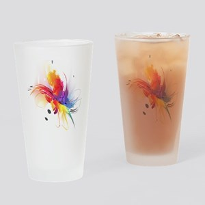 Abstract Feathered Colors Drinking Glass