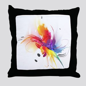 Abstract Feathered Colors Throw Pillow
