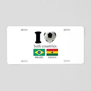 BRAZIL-GHANA Aluminum License Plate