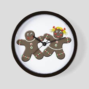 Gingerbread Couple Wall Clock