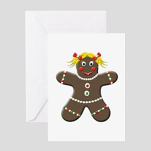 Gingerbread Girl Christmas Greeting Card