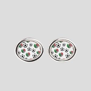 Mexican soccer balls Oval Cufflinks