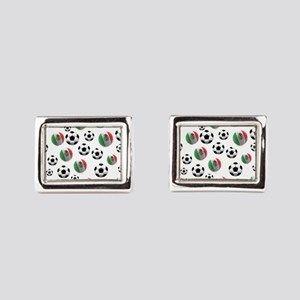 Mexican soccer balls Rectangular Cufflinks