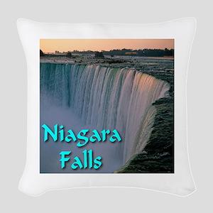 Niagara_Falls Woven Throw Pillow