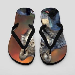 Wolf Wolves Lovers Flip Flops