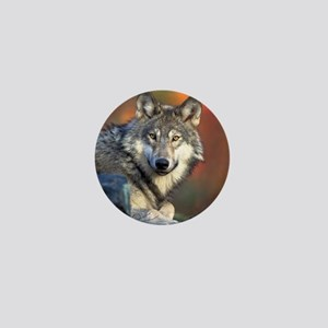 Wolf Wolves Lovers Mini Button
