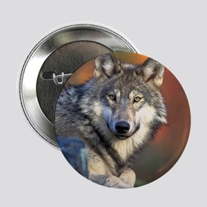 """Wolf Wolves Lovers 2.25"""" Button"""