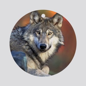 Wolf Wolves Lovers Round Ornament