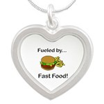 Fueled by Fast Food Silver Heart Necklace