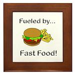 Fueled by Fast Food Framed Tile