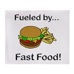 Fueled by Fast Food Throw Blanket