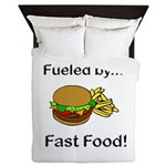 Fueled by Fast Food Queen Duvet