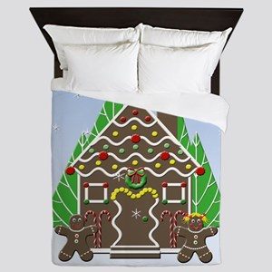 Gingerbread House With Snow Queen Duvet