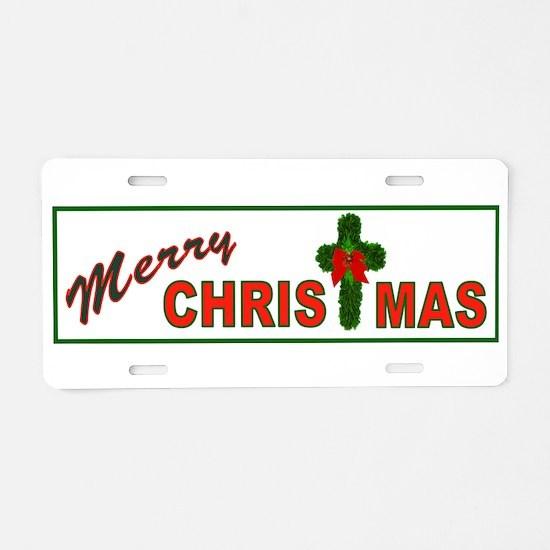 JESUS BIRTHDAY GOLD Aluminum License Plate