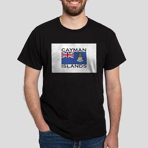 Cayman Islands Flag Dark T-Shirt