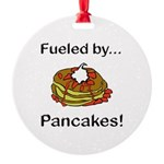 Fueled by Pancakes Round Ornament
