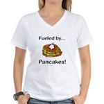 Fueled by Pancakes Women's V-Neck T-Shirt