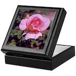 Pink Rose Art Keepsake Box