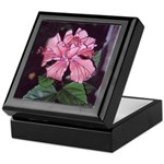 Hibiscus - Peach Colored - Art Keepsake Box