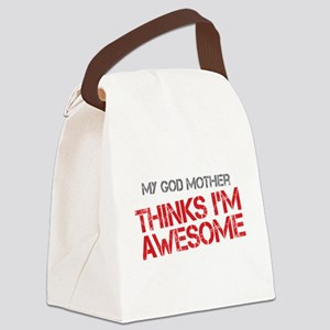God Mother Awesome Canvas Lunch Bag