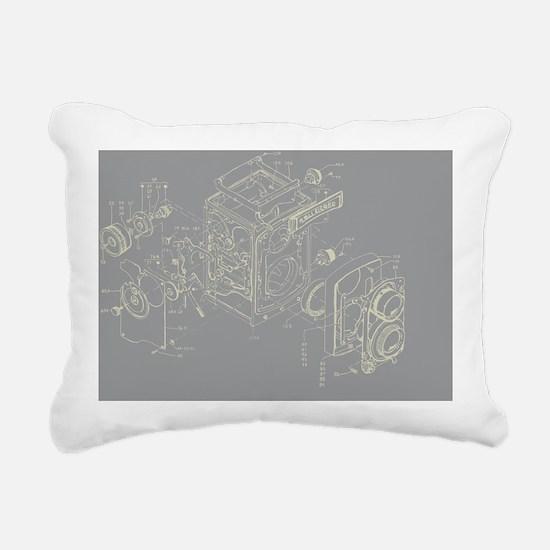 Rollei camera graphic Rectangular Canvas Pillow