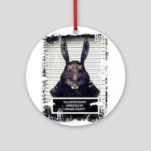 Evil Easter Bunny Rabbit SOLO Ornament (Round)