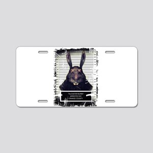 Evil Easter Bunny Rabbit SOLO Aluminum License Pla