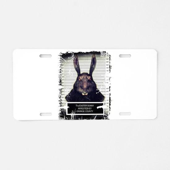 Evil Easter Bunny Rabbit SOLO Aluminum License Pla